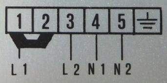 Aansluitschema 2 X 230 Volt