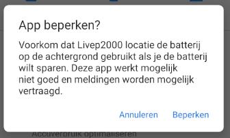 App beperken